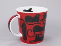 LOMOND Lucky Cats Black -porcelana