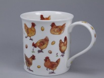 BUTE Animals Galore Chickens -porcelana