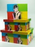 """LP 17667 Pudła """"Pop Art -Audrey"""""""