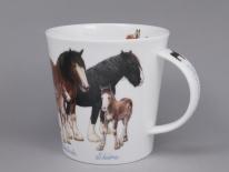 CAIRNGORM Farmyard Horses -porcelana