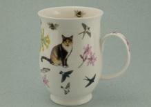SUFFOLK Garden Cats Tortoiseshell -porcelana