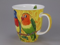 NEVIS Tropical Birds Parakeets - porcelana