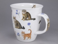 NEVIS - Flower Cats Blue - porcelana