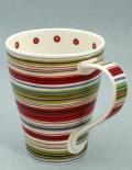 SOLWAY Cafe Stripe Rosy -porcelana