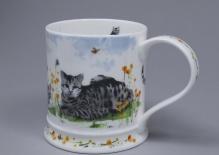 IONA Garden Cats Tabby -porcelana