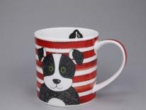ORKNEY Stripy Dogs Red -porcelana