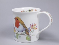 BUTE Hedgerow Birds Honeysuckle- porcelana