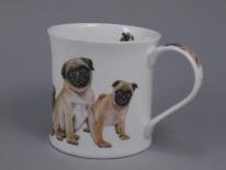 WESSEX Designer Dogs -Pugs -porcelana