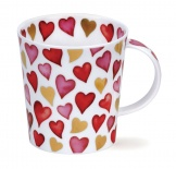 LOMOND - Lovehearts Red - porcelana