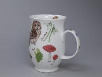 SUFFOLK Woodland Owl -porcelana