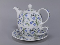 TEA FOR ONE Dovedale Harebell -porcelana (czajnik 0,5 l, fil. 0,25 l)