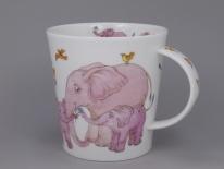 CAIRNGORM Tickled Pink Elephant -porcelana