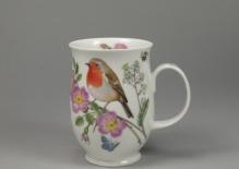 SUFFOLK Hedgerow Birds Robin -porcelana