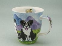 NEVIS Highland Animals Collie -porcelana