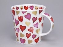 CAIRNGORM Lovehearts Red - porcelana