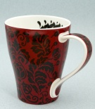 SOLWAY Damask Red - porcelana