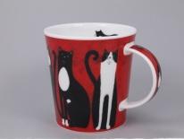 LOMOND Lucky Cats Black & White- porcelana