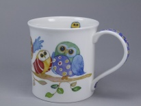 BUTE Wise Owls Branch - porcelana