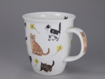 NEVIS - Flower Cats Yellow- porcelana