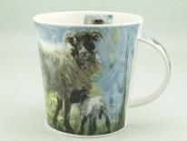CAINGORM Animals on Canvas Sheep -porcelana