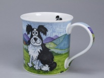 BUTE Daft Dogs Collie - porcelana