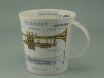 CAIRNGORM Music Icons Trumpet -porcelana