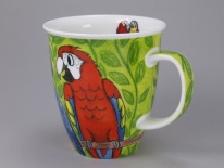NEVIS Tropical Birds Macaws - porcelana
