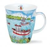 NEVIS -Coastal View Fishing Boat -porcelana