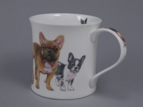 WESSEX Designer Dogs - French Bulldogs - porcelana