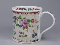 WESSEX Chintz Bouquet Burgundy -porcelana