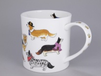 ORKNEY Dashing Dogs Corgi -porcelana