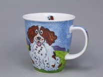 NEVIS Happy Dogs Spaniel- porcelana