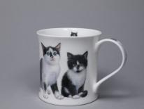 WESSEX Kittens Black & White - porcelana