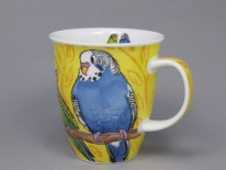 NEVIS Tropical Birds Budgerigars- porcelana