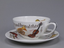 Filiżanka TEA FOR ONE Instrumental - porcelana (0,25 l)