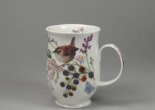 SUFFOLK Hedgerow Birds Wren -porcelana