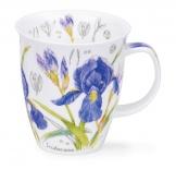 NEVIS -Floral Sketch Iris -porcelana