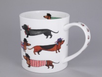 ORKNEY Dashing Dogs Sausage Dog -porcelana