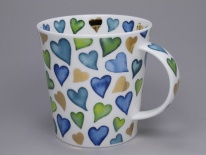 CAIRNGORM Lovehearts Blue -porcelana