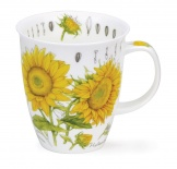 NEVIS - Floral Sketch Sunflower - porcelana