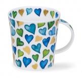 LOMOND -Lovehearts Blue -porcelana