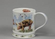 IONA Farmyard Pig -porcelana