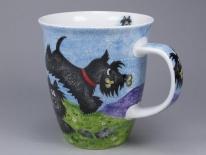 NEVIS Highland Animals Scottie -porcelana