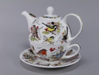 TEA FOR ONE Birdlife - porcelana (czajnik 0,5 l, fil. 0,25 l)
