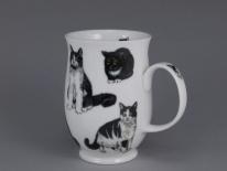 SUFFOLK Cats Black & White -porcelana