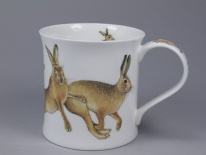 WESSEX Hares Leaping -porcelana