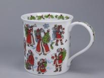 BUTE Snowy Santa -porcelana