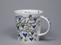 LOMOND Tree of Hearts Blue- porcelana