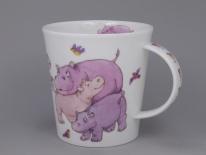 CAIRNGORM Tickled Pink Hippo -porcelana
