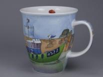 NEVIS Boats Afloat Green -porcelana